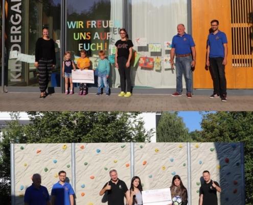 Spendenübergabe Kindergarten und Schulförderverein
